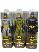 Lot Of 3 Spin Master Dc Batman 12 Inch Action Figures Rebirth Camouflage Batman