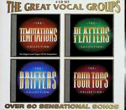 The Great Vocal Groups Temptations Drifters Four Tops Platters 4 Cd Set