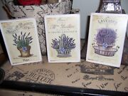 Lavender Wall Decor Signs French Country Cottage Farmhouse Style Paris