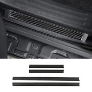 For 2010-2021 Toyota 4runner Real Carbon Fiber Door Sill Plate Scuff Cover Guard