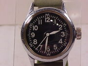 Original And Vg Condition Army Ground Forces Ord. Dept. 16-jewel Hack Wristwatch