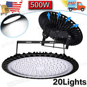 20pack 500w Ufo Led High Bay Light Shop Lights Bulb Warehouse Industrial Outdoor