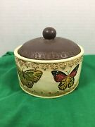 Round Resin Butterfly Trinket Dish Coin Dish Jewelry Tray Bronze Colored Top