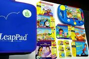2001 My First Leap Pad Learning System W/books Cartridges And Zippered Case Works