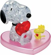 Bepuzzled 3d Crystal Puzzle - Snoopy Loves Woodstock Heart Official Peanuts