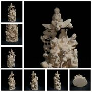 Chinese Old Wooden Statue Carvings Decor Sculpture Boxwood Suppress Evil Spirits