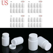 10x Medicine Chemical Bottles Pill Tablet Boxes Powder Storage Container Case Us
