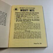Sencore Mighty Mite Tube Tester Set-up Book Form No. 355