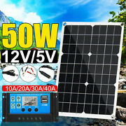 50w Solar Panel Kit With Pwm Charge Controller Regulator12v Rv Boat Offgrid C8w0