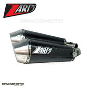 Ducati Monster 696 2009 2010 Exhaust Zard Conical Carbon Rc Zd115csr