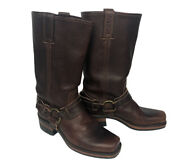 Frye Harness Riding Boots Womens Size 7 Brown Leather Motorcycle 77250