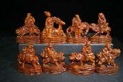 8x Buddha Antique Chinese Wood Carving Wooden Statue Carvings Wooden Sculpture