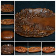 Old Antique Chinese Wood Carving Sculpture Boxwood Wood Wooden Statue Carvings
