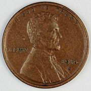 1914-s United States Lincoln Head Wheat Cent / Penny - Au About Uncirculated
