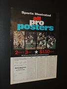 Sports Illustrated All Pro Posters Ad 1968-72 Alworth Namath Sayers Deacon Jones