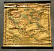 Original Antique 1854 Jacob Monk New Map Of That Portion Of North America Nice