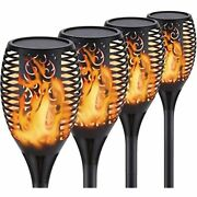 Solar Flame Torch Lights Outdoor Christmas Decorations Waterproof Tiki Torches -
