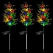 Solar Garden Stakes Lights Christmas Decorations Outdoor Pine Trees With Multi