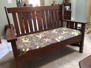 Antique Stickley Furniture Settee Arts And Crafts Style