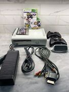 Xbox 360 Ncaa Football 14 Lot - Console, Disc Complete, 2 Controllers, Chat Pad