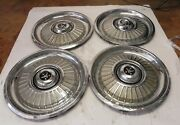 1959 Desoto Vintage Factory Original 15-inch Hubcap Wheel Covers Lot Of 4 Used
