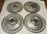 1962 Ford Vintage Factory Original Oem 14-inch Hubcap Wheel Covers Lot Of 4 Used