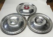1952-53 Lincoln Vintage Factory Original Oem Hubcap Wheel Covers Lot Of 3 Used