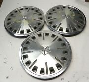 1984-89 Plymouth Reliant 13-inch Hubcap Wheel Covers Original Oem Lot Of 3 Used