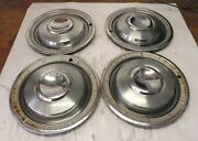 1960 Chrysler New Yorker Town And Country Vintage Oem Hubcap Wheel Cover Lot Of 4