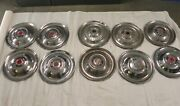 1951-52-53-54 Packard Vintage Factory Original Oem Hubcap Wheel Covers Lot Of 3