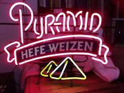 Pyramid Hefe Wizen Vintage Neon Beer Sign Collectible Great For Man Cave