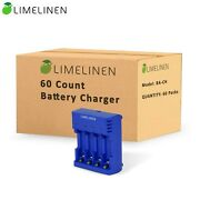 Battery Charger With Micro Usb 5v For Aa And Aaa Rechargeable Batteries, Case 60ct