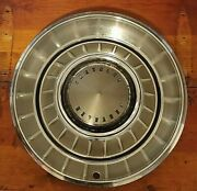 Vintage Oem Metal Wheel Covers Rare 14 Good To Vg Condition. Lot J