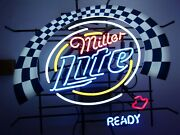 Miller Lite Ready Vintage Neon Beer Sign Collectible Great For Man Cave