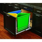 Kitchen Cabinet 4-bin Recycling Center Pullout 4 Trashcan Rollout Base Cabinets