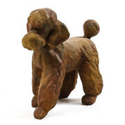 Poodle Dog Outdoor Indoor Fiber Stone Garden Statue Handcrafted Usa 17w 10d 16h