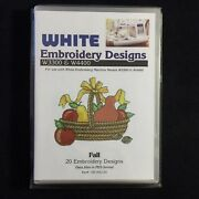 Fall Autumn Embroidery Designs Card Fits Deco Brother Baby Lock White