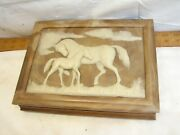 Dante American Walnut Carved Incolay Top Mare Andcolt Jewelry Trinket Dresser Box