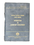 Reserve Officers Training Corps Manual - Intro To Leadership Development 1972