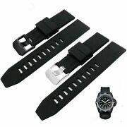 23mm Black Strap Watch Wrist Band Rubber Waterproof For Luminox Recon Colormark