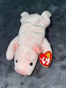 1993 Retired Original Squealer Beanie Baby W All Tags/ Comes W Display Caseandnbsp