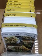 Vintage My Great Recipe Card Library Index Sections 1-8 Of Recipes 1984 W Case