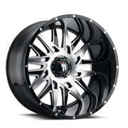 26 Inch 26x14 American Truxx At184 Dna Machined Wheels 5x150 -76