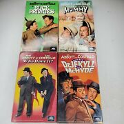 Abbott And Costello Vhs Bundle Meet The Mummy Dr Jekyll Buck Privates Who Done