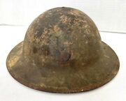 Wwi Us Army 27th Infantry Division Combat Helmet