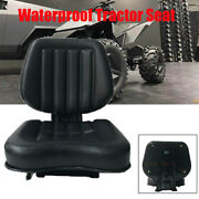 Universal Garden Lawn Mower Seat With Back Rest Pvc Tractor Forklift Seat