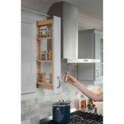6 Inch Wide Kitchen Cabinet Pullout Filler Spice Rack Rollout Shelves 42 High