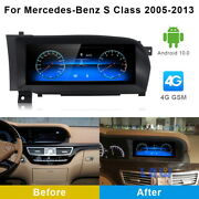 Android Car Gps Stereo Video Player Wireless Carplay For Benz S Class 2005-2013