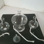 Princess House 3 Floating Oil Lamps Nib 6490 New Old Stock In Box