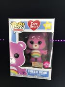 Funko Pop Animation Cheer Bear Flocked Box Lunch Exclusive 351 Care Bears New